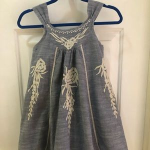 3/$25 Girls Chambray Embroidered Dress